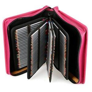 Image 5 - 216 Hole School Pencil Case Pu Spiral Folding Detachable Pencil Case Large Multi Function Sketch Pencil Bag