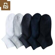 5 pares youpin 365 wear primavera e verão respirável antibacteriano masculino meias comfrotable macio prata ion antibacteriano novo
