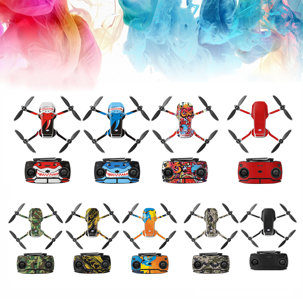 Protective Film PVC Stickers For Mavic Mini Colorful Waterproof Scratch-proof Decals Full Cover Skin For DJI Mavicmini Accessory