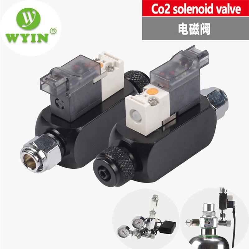 WYIN 110-240V Low Temperature DIY CO2 Aquarium Magnetic Solenoid Valve Regulator,   Carbon dioxide solenoid valve