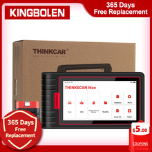 ThinkCar – ThinkScan Max Scanner de Diagnostic de voiture, système complet, OBD2, 28 services de réinitialisation, Test bidirectionnel, CRP909E