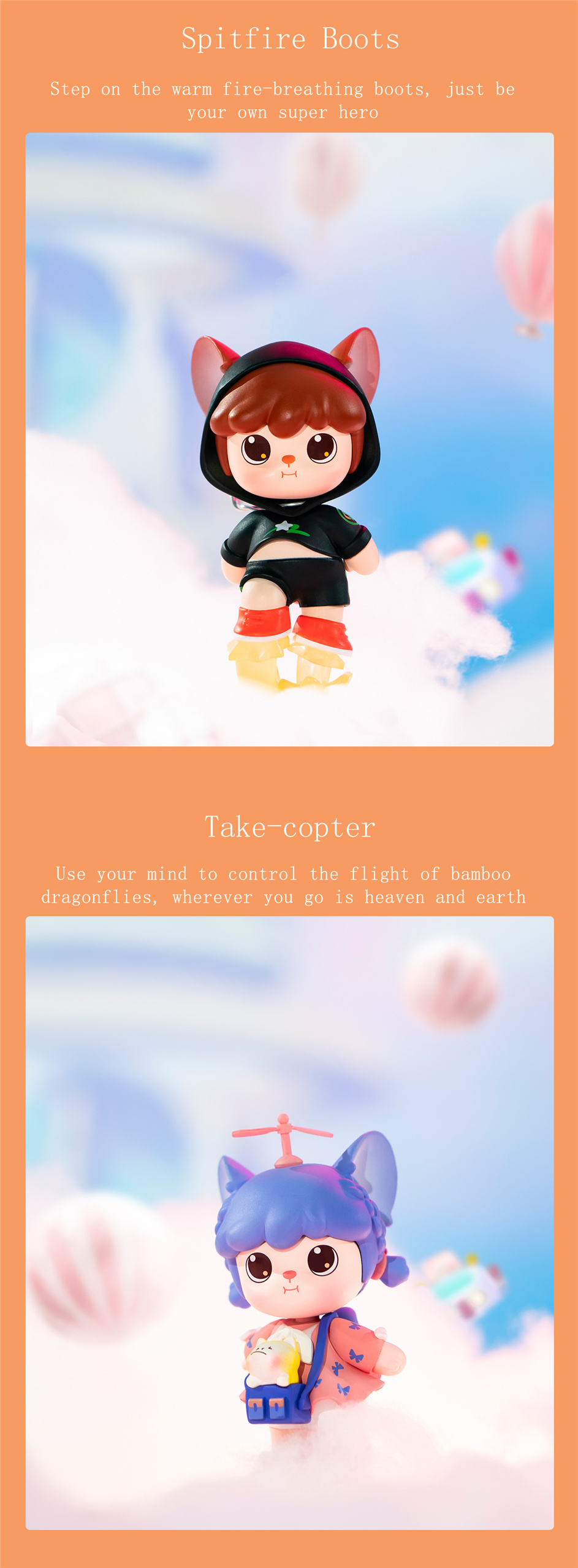 Rolife Blind Box Figure Surprise Dolls- Hanhan Nai Fox Fairy (SET)