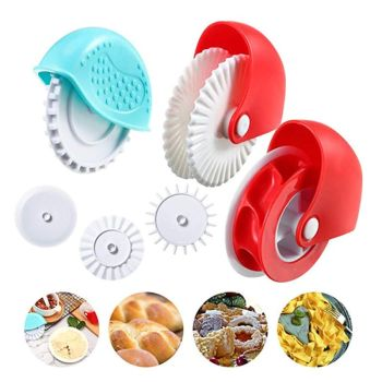 Pastry Dough Lattice Cutter Pizza Pie Decoration Gadget Plastic Roller Wheel Cutter Crust Noodle Roll Fancy Knife Baking Cutter
