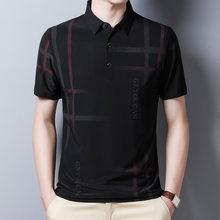 Ymwmhu-camisa Polo a rayas para hombre, ropa fresca informal a cuadros, ropa de calle, Polo ajustado, camisa coreana, novedad de verano