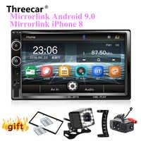 2 Din Auto Radio Bluetooth Spiegel link Android 9 Auto Multimedia-Player HD Touch Autoradio MP5 USB Audio Stereo Auto Monitor