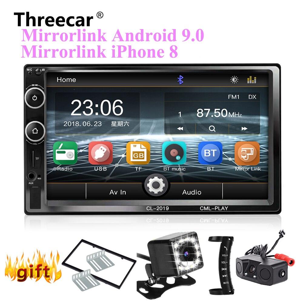 Autoradio 2 Din Bluetooth Mirror link Android 9 lecteur multimédia de voiture HD tactile Autoradio MP5 USB Audio stéréo moniteur de voiture