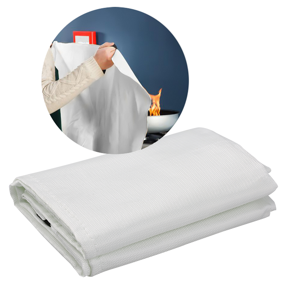 Fire Emergency Blanket 1M X 1M Fire Blanket Fiberglass Fire Shelter Safety Cover Fire Flame Retardant Emergency Survival
