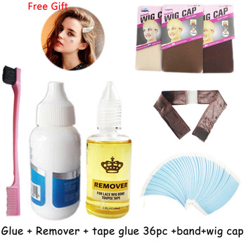 hair glue for lace wig cap waterproof hair bolding glue 38ml lace wig glue remover with ultra hold tape glue for lace wigs caps hair glue for lace wig bold hold lace glue set sell 1 glue 38ml remover and wig glue tape got2b glued spray wig glue bold hold
