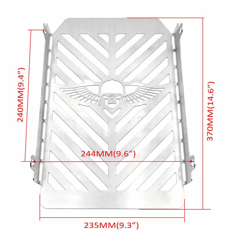 Крышка радиатора, защитная крышка радиатора для Kawasaki Vulcan VN 1500, крыло черепа, бесплатная доставка, запчасти для мотоциклов