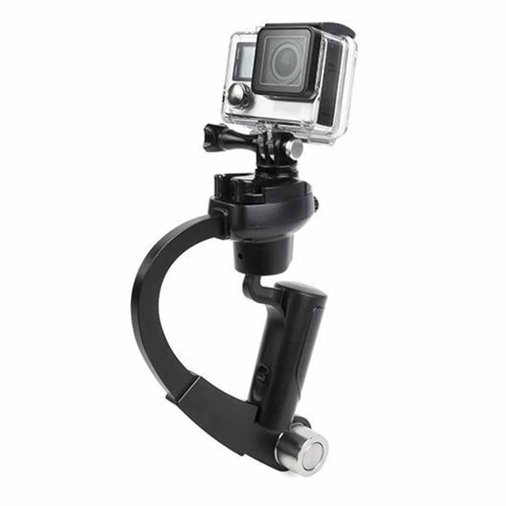 כף יד וידאו ירי מייצב Steadicam קשת בצורת עוזר צלם נייד יד לgopro Hero מצלמה FS