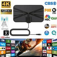 vhf uhf 1080 מיילס הדיגיטלי HD אנטנת טלוויזיה 4K מקורה טלוויזיה מגבר VHF (170-240Mhz) / UHF (470-860Mhz) הרדיוס Surf אוויר מגבר אות (1)