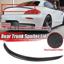 Новинка Реальные углеродного волокна автомобиль спойлер заднего багажника, крыла большой для BMW E89 Z4 Кабриолет 18i 20i 23i 28i 30i 35i 2009