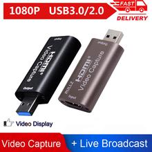Przenośna karta przechwytywania wideo USB 3 0 2 0 HDMI 1080P skrzynka nagrywania wideo na PS4 Youtube OBS itp przekaz na żywo tanie tanio ALLOYSEED CN (pochodzenie) HDMI Video Capture Card Film i telewizja tuner karty 1 x HDMI 1 x USB 25 29 97 30 50 59 94 60fps