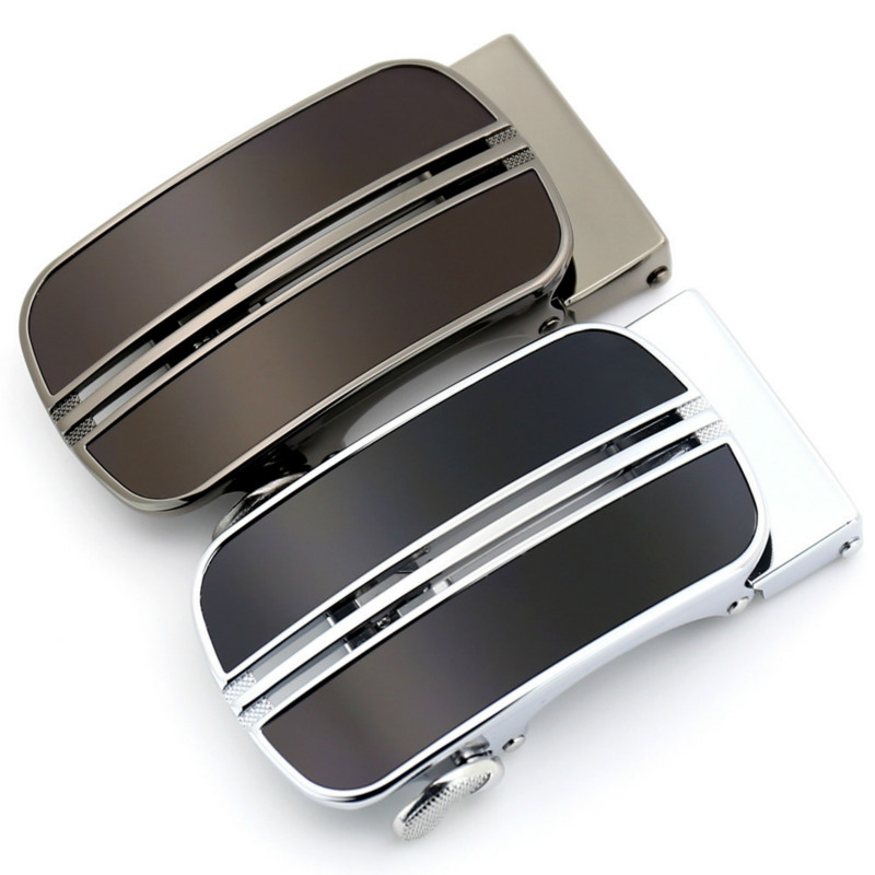 New Men's Business Alloy Automatic Buckle Unique Men Plaque Belt Buckles For 3.5cm Ratchet Men Apparel Accessories LY155-02294S