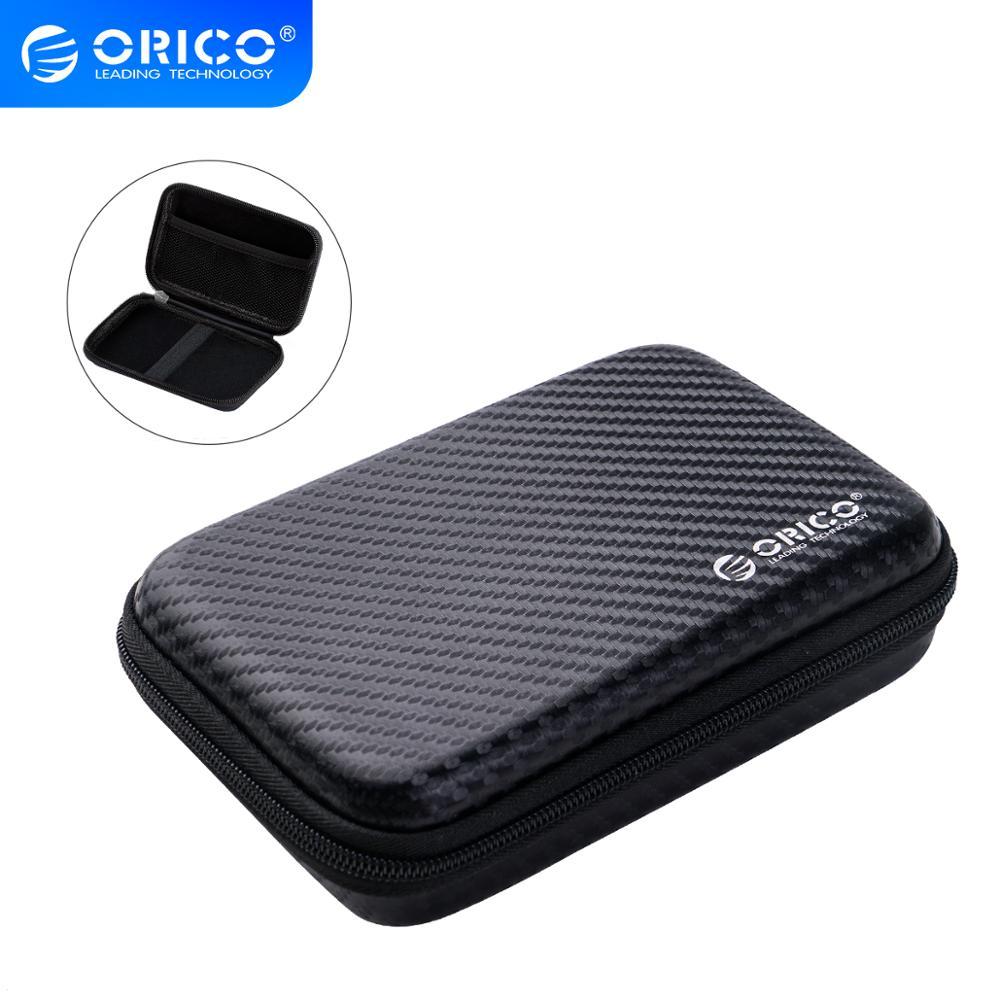 ORICO 2.5 sabit Disk kutusu taşınabilir HDD koruma çantası harici 2.5 inç sabit Disk/kulaklık/U Disk sabit Disk sürücüsü kılıf siyah
