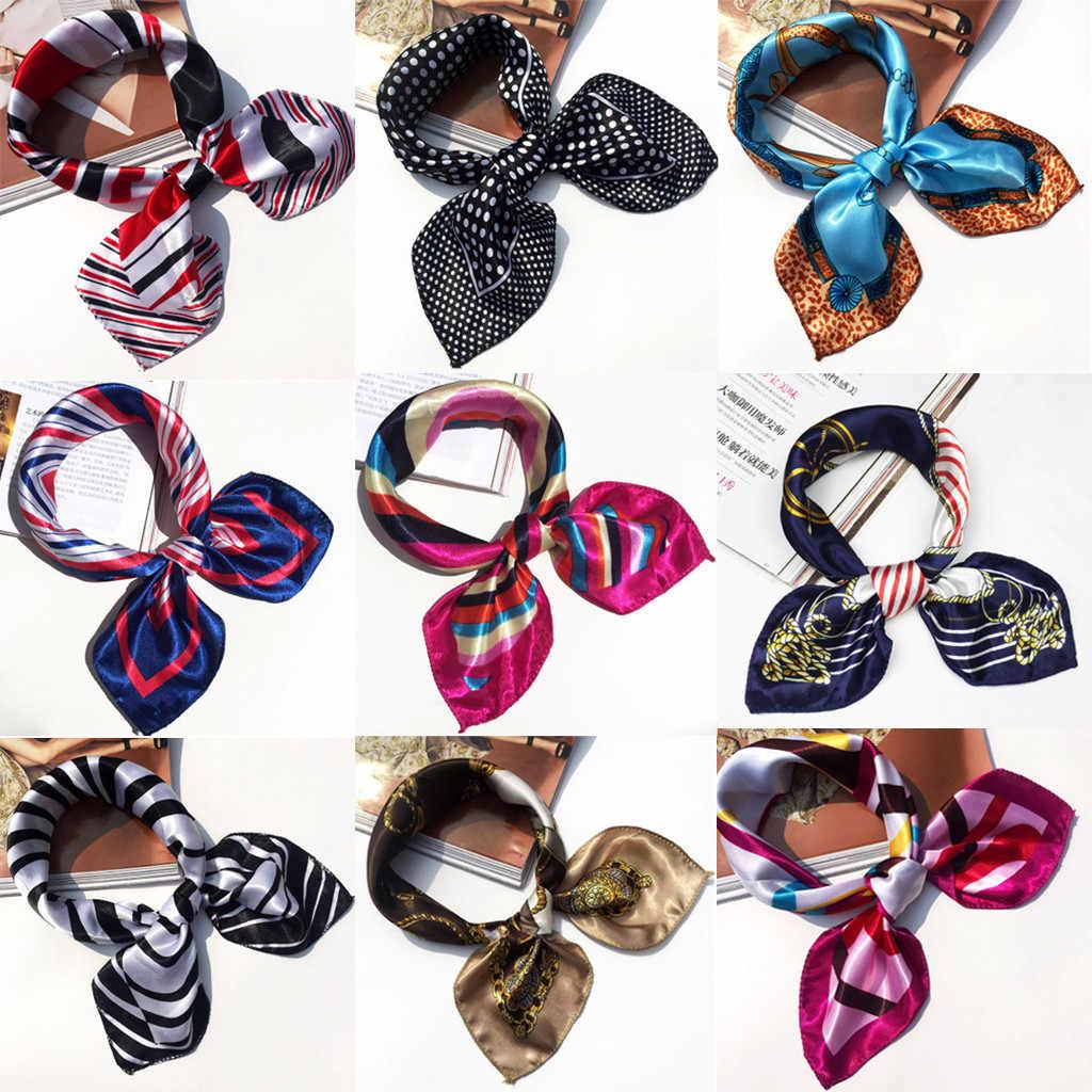 エレガントな小さなバンダナパーティー女性の髪のネクタイバンドファッション女性スクエアヘッドスカーフラップスカーフレディーハンカチネックスカーフ