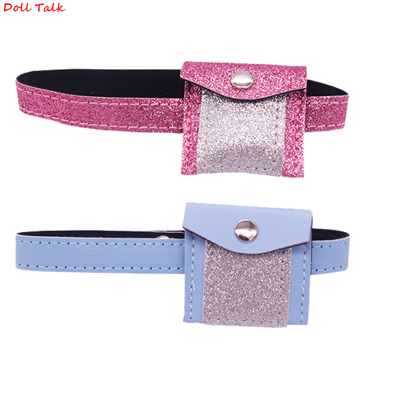 Doll Talk Fashion Dolls Bag New Design Shining Waist Pack For 18 Inch 43cm Dolls  DIy GIrl's Gift Clothes Accessories