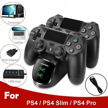 Support Base Battery Charger Dock for Sony PS4 Playstation Play Station PS 4 Pro Slim Game Portable Control Controller Gamepad ps4 controller 4 in 1 fast charger dock station stand for playstation 4 slim pro ps vr ps move gamepad with led light