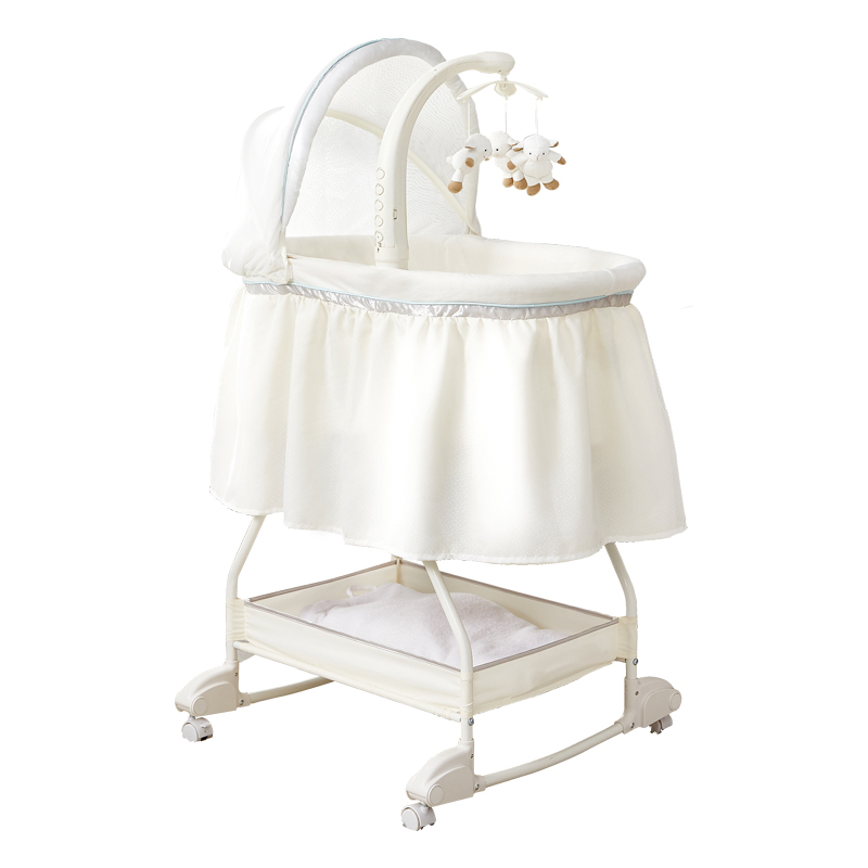 959 Newborn Crib Removable Anti-Pressure Baby Cradle Bed in Bed European Style BB Joint Bed Multi-functional