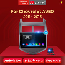 Junsun V1 4G + 64G Carplay Android 10 Dsp Voor Chevrolet Aveo 2 2011 - 2015 Auto Radio multimedia Video Player Gps Rds 2 Din Dvd