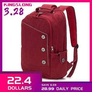 Kongslong женские и мужские рюкзаки для подростков Мода школьный Лен ноутбук рюкзак женский мужские и женские школьные сумки для школы рюкзак-ж...
