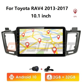 Android 10 head unit 4G Car Radio Multimedia Video Player Navigation GPS For Toyota RAV4 Rav 4 2013 2014 2015 2016 2017 Cam wifi image