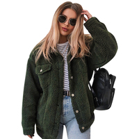 2019 New Womens Coats Winter Lapel Lamb Coat, Female Loose Coat Long Sleeve Women Clothes Manteau Fourrure Femme Fourrure Femme
