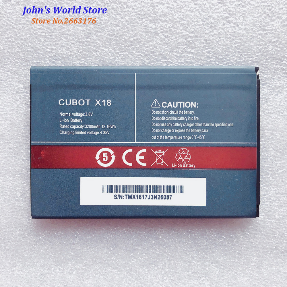 CUBOT X18 Original Battery High Quality 3200mAh Li-ion Replacement For CUBOT X 18 Smart Phone Bateria Batterie Baterij In Stock