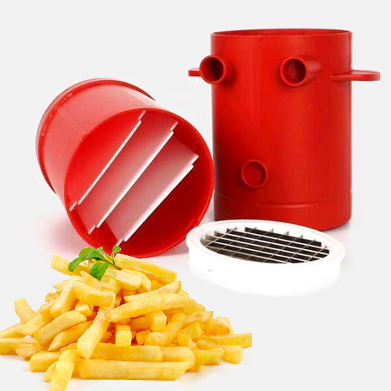 2 In1 Copper Potato French Fries Cutting Maker Slicers Jiffy Cutter Machine No Frying Kitchen Accessories Cooking Tools Chopper