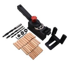 38PCS Woodworking Hole Jig Drill Guide Carpenter Kit Hole Drill Tools Woodworking Inclined Locator Oblique Hole Positioner woodworking guide carpenter kit system inclined hole drill tools clamp base drill bit kit system pocket hole jig kit