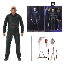 18cm Novo Estilo Original NECA Friday the 13th Jason Parte Final 5 Roy Queimaduras Action Figure Modelo Toy Boneca presente(China)