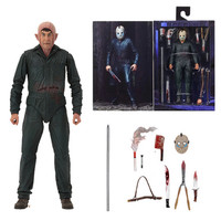 18cm New Style Original NECA Friday the 13th Jason Ultimate Part 5 Roy Burns Action Figure Model Toy Doll Gift