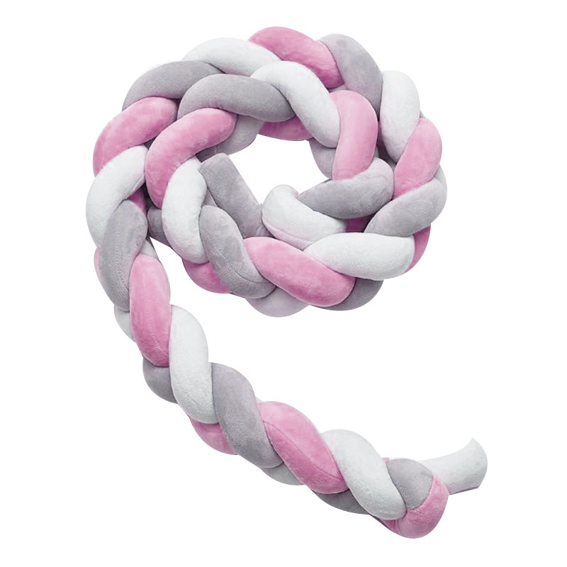 Three-Color Woven Long Knot Knotted Room Decoration Twist Pillow Crib Insurance Side Pillow Gray White Pink 4M