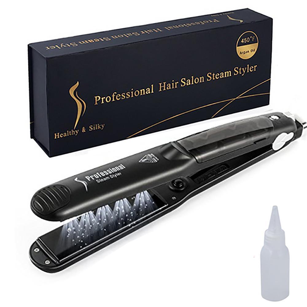 Professional Steam Hair Straightener Ceramic Vapor Hair Flat Iron Seam Hair Straightening Iron Curler Steamer Hair Styling Tool