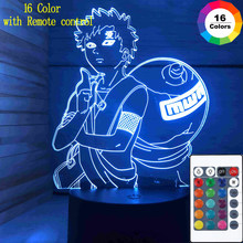 Kawaii Hot Japanese Anime Led Night Light Toy Figures Kids Bedroom Night Light Cartoon Sasuke 16 Color 3d Lamp Child Gift