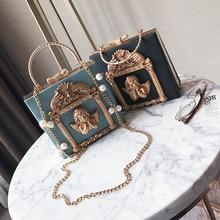 High-End Customizable Evening Bag Diamond Set Baroque Angel Handbag 2020 New Box Chain Single-shoulder Crossbody