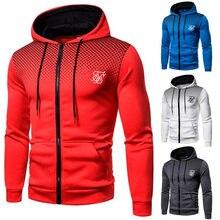 Ropa Hompre High Street Brand SikSilk Plus Velvet Print Polka Dot Men's Hoodie Outdoor Street Sports Running Training Sweatshirt