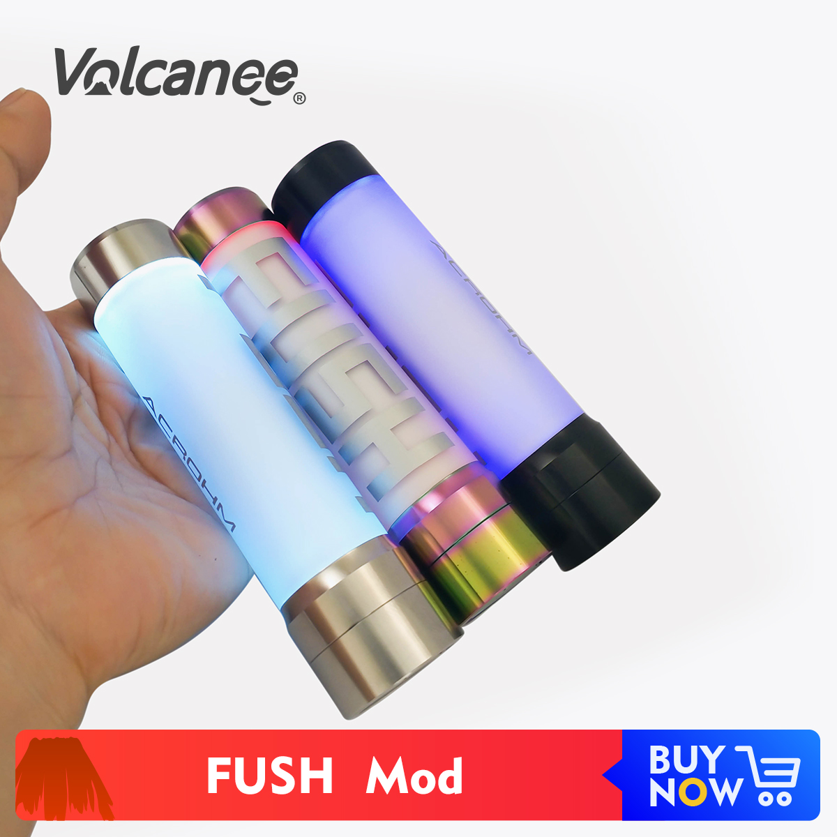 Volcanee FUSH Mechanical Mod 304 Stainless Steel Material 510 Thread Fit 18650 Battery Vape Mod Electronic Cigarette Accessories