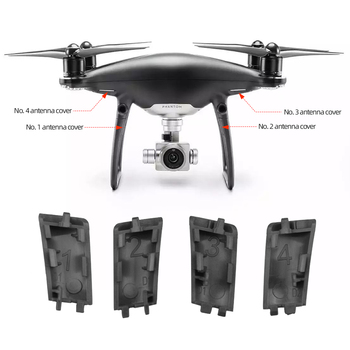 Original Brand New Replacement Parts Landing Gear Antenna Cover Cap for DJI Phantom 4 Pro Dark Night Version Drone Accessories image