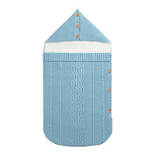 цена на New Newborn Baby Winter Warm Sleeping Bags Infant Button Knit Swaddle Wrap Swaddling Stroller Wrap Toddler Blanket Sleeping Bags