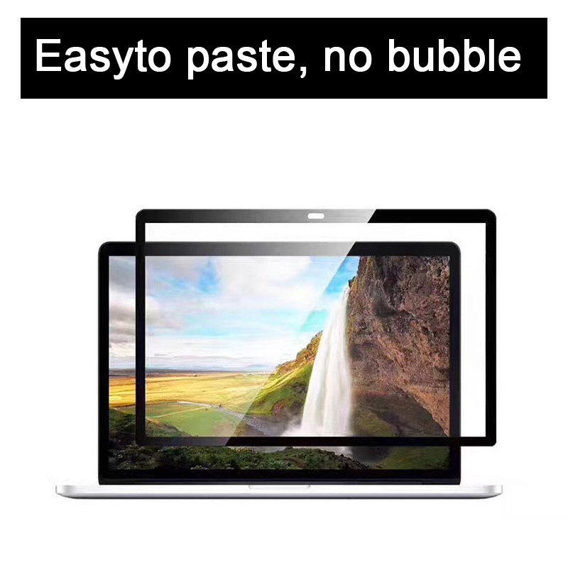 Easy Paste No Bubble Screens Protective Film Black Frame For 2016/2017/2018/2019 New MacBook Pro Touch Bar/ Air Touch ID 13 Inch