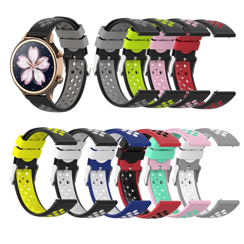 18mm Smart Watch Band Silicone Strap For Huawei Watch1 Honor S1 Fit B5 Replacement Bracelet For Fossil Gen 4 Q Venture HR