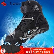 Arcx botas de motocicleta respirável homens botas de moto preto botas de equitação da motocicleta sapatos quatro estações sapatos casuais #