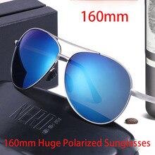Vazrobe 160 мм негабаритных солнцезащитных очков, поляризованные мужские солнцезащитные очки с покрытием, тонированные солнцезащитные очки для мужчин, огромные большие очки для лица, UV400, модное зеркало