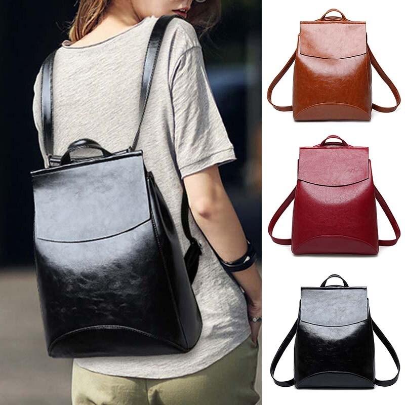 Fashion Women Backpack Youth Leather Bagpack For Teenage Girls School Bag MUG88