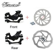JEDERLO MTB велосипедный сплав механический дисковый тормозной ротор 160 180 мм суппорты зажим ротор комплект передних задних горных велосипедов З...