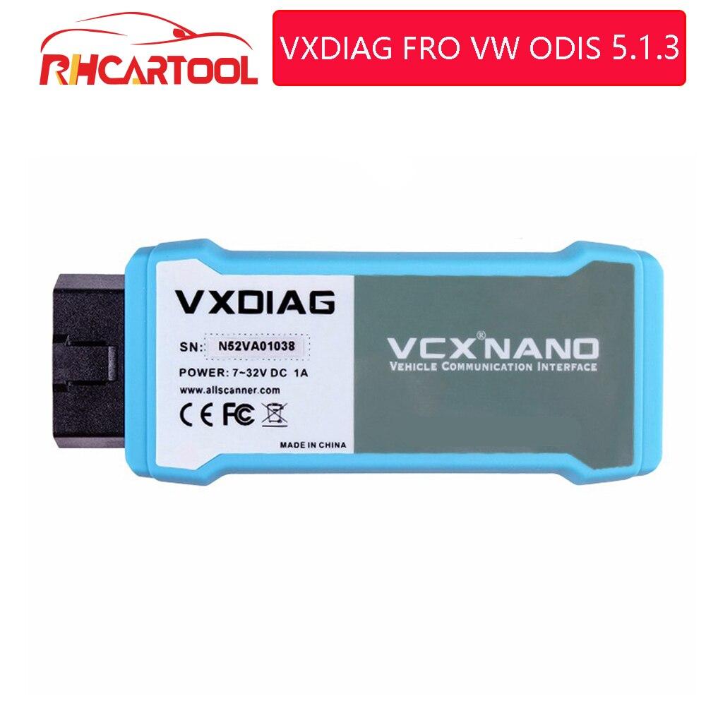 2019 Vxdiag VAS6154 WIFI Wireless ODIS 5 1 3 for VAG Code Reader Diagnostic Tool VAS