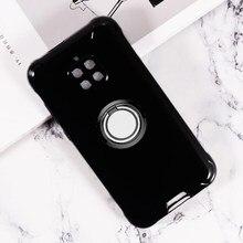 Para blackview bv4900 pro voltar anel suporte do telefone capa tpu macio silicone caso em bv4900pro 5.7