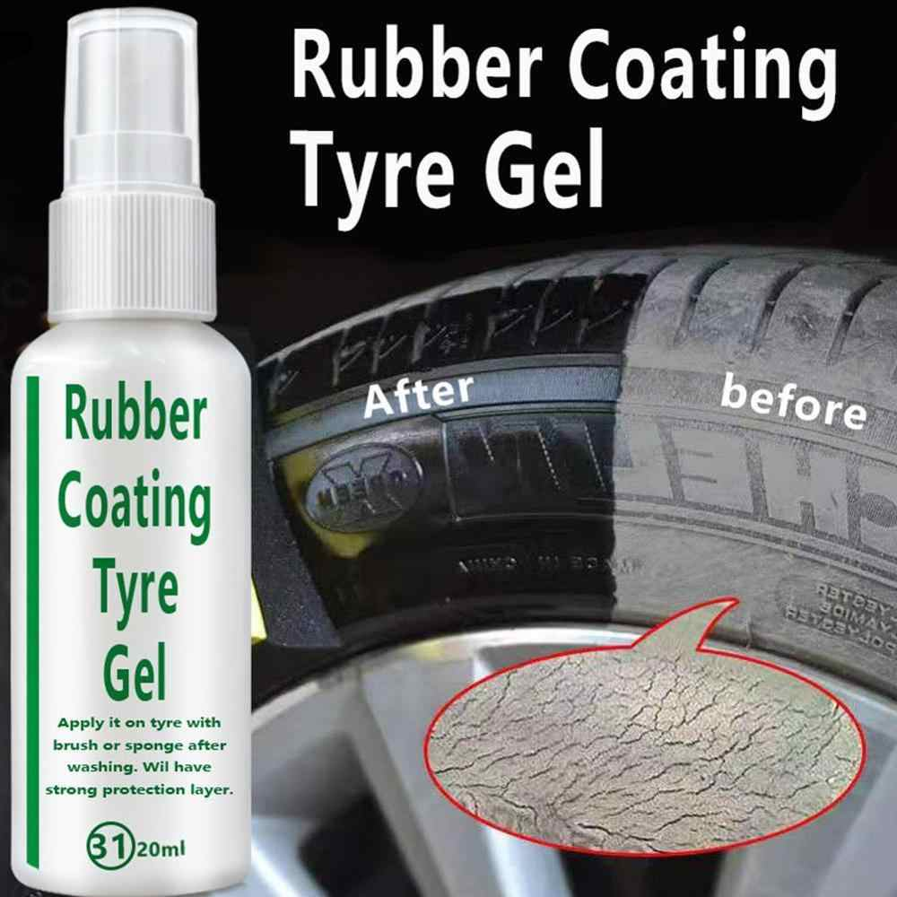 Universal 20ML Car Rubber Tire Spray Gel Coating Agent Brightener Decontamination Tire Protector Tire Restoration Accessory