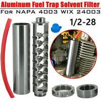 Uma escala completa de alumínio 1/2 24 1/2 28 armadilha solvente do carro do filtro de combustível do carro para napa 4003 wix 24003|Filtros de combustível|   -